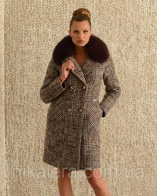 Зимнее пальто с натуральным мехом - ООО