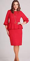 Платье Асолия-2375/1 белорусский трикотаж, красный, 50