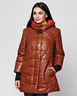 Женская демисезонная куртка  c брошью 48-58рр, фото 1