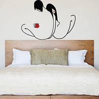 Декоративная виниловая интерьерная наклейка Адам и Ева (ПВХ наклейки стикеры декор наклейки люди винил) матовая , фото 1
