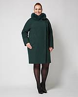 Женское зимнее пальто с мехом рр 48-58, фото 1