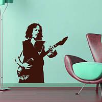 Интерьерная виниловая наклейка на обои Кирк Хэммет (ПВХ наклейки стикеры декор наклейки известные люди), фото 1