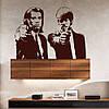 Интерьерная виниловая наклейка на обои Криминальное чтиво (ПВХ наклейки стикеры декор самоклеящаяся пленка)
