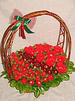 """Шикарный букет из конфет""""Марго-красный""""№35+25"""