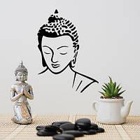 Интереьрная виниловая наклейка на стену Будда (религиозные наклейки народов мира) глянцевая, 710x970 мм