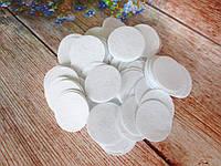 Фетровая заготовка круг, 4 см., цвет белый, 50 шт.
