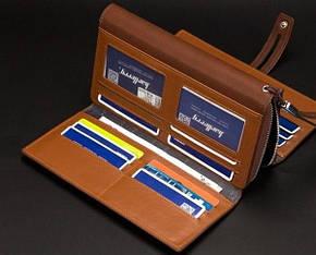 Мужской кошелек-клатч Baellerry Guero коричневый, фото 2