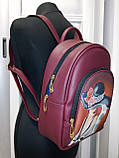 Сумка-рюкзак для вышивки бисером   Рюкзак Модель 2 С7 бордо  кожзам, фото 2