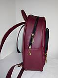 Сумка-рюкзак для вышивки бисером   Рюкзак Модель 2 С7 бордо  кожзам, фото 4