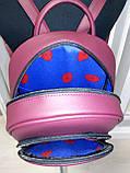 Сумка-рюкзак для вышивки бисером   Рюкзак Модель 2 С7 бордо  кожзам, фото 5