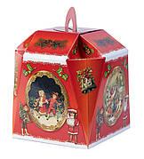 Картонная упаковка для конфет, Звоночек Ретро, 16х16х22см