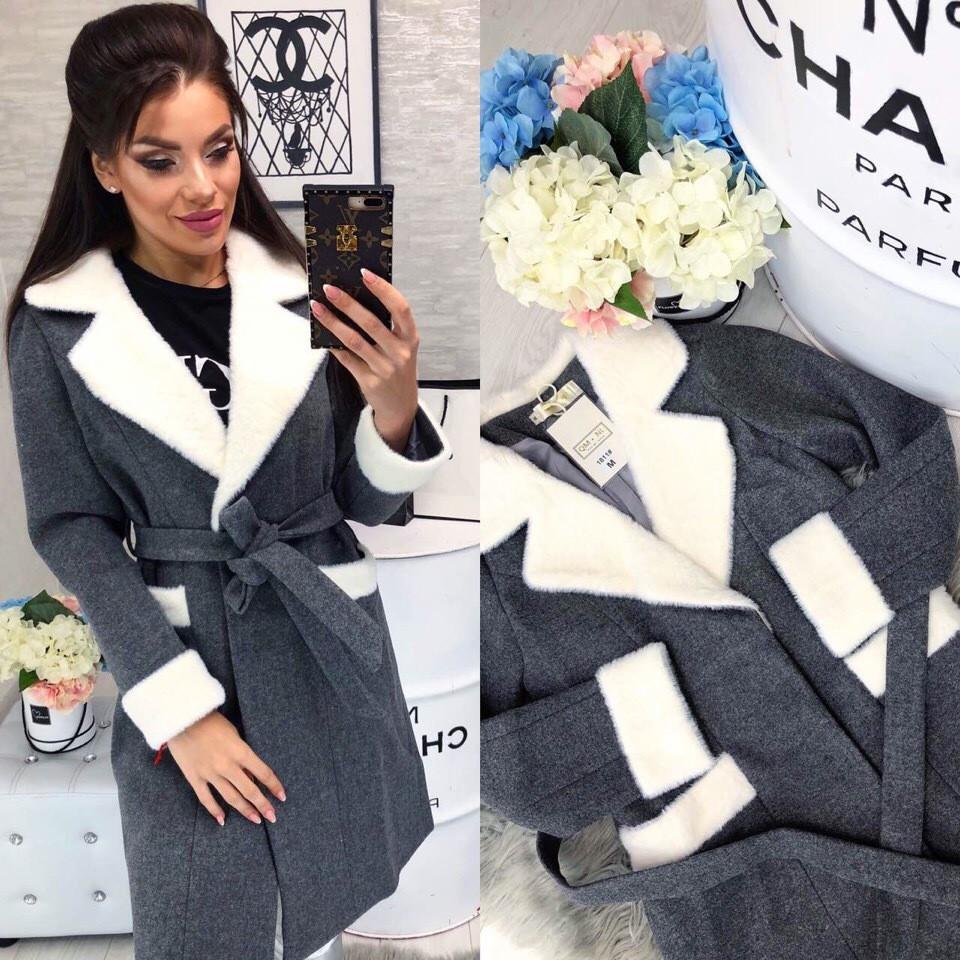 Женское пальто (103)472. (3 цвета) Размеры: 42,44,46. Ткань: кашемир