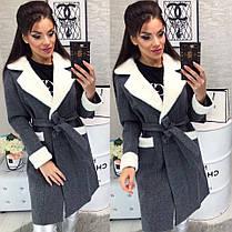 Женское пальто (103)472. (3 цвета) Размеры: 42,44,46. Ткань: кашемир, фото 3