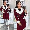 Женское пальто (103)472. (3 цвета) Размеры: 42,44,46. Ткань: кашемир, фото 5