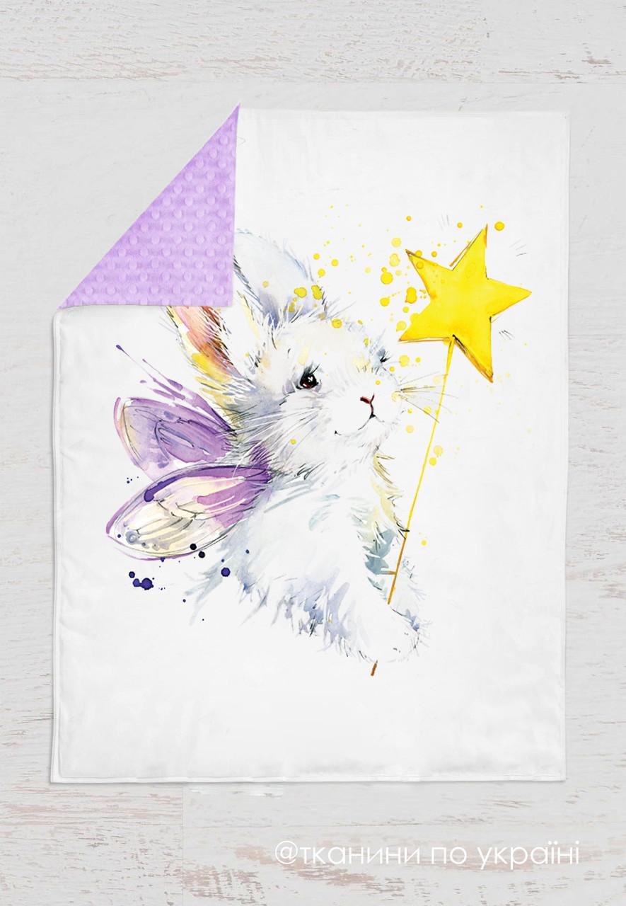 Панелька Премиум сатин Кролик+звезда 100*75