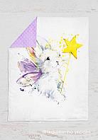 Панелька сатин Кролик+звезда 100*75