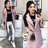Женское Пальто, цвет - Пудра (103)474 -2. (2 цвета) Размеры: 42,44,46. Ткань: букле