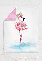 Панелька Премиум хлопок Фламинго 100*75