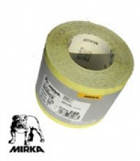 MIRKA наждачная бумага MIROX Р150 жёлтая рулон 50м.