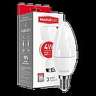LED лампа Maxus C37 CL-F 4W теплый свет E14 (1-LED-5311), фото 2
