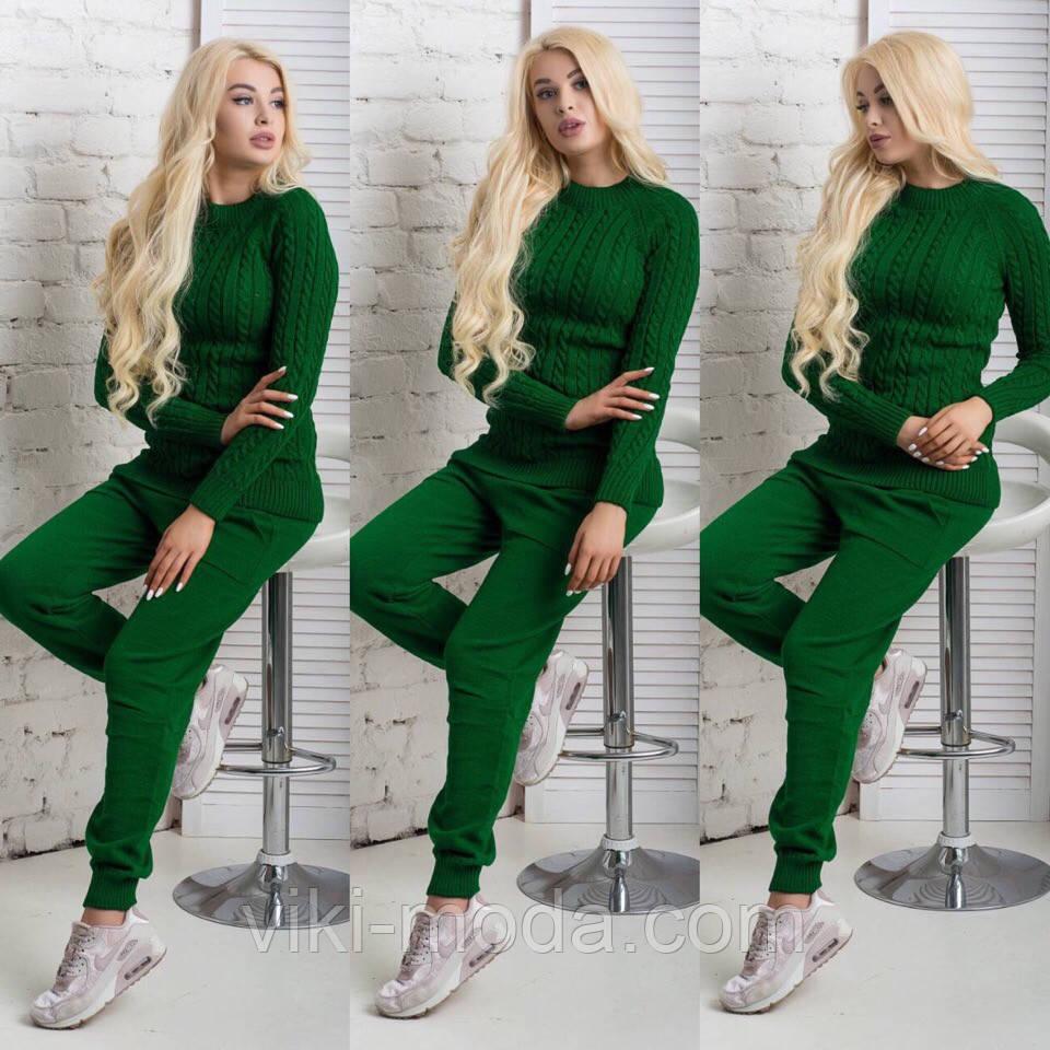 вязаный костюм цвет зеленый 1322 продажа цена в киеве костюмы