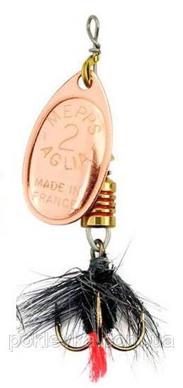 Блесна Mepps Aglia Mouche 1 Mедь Black Fly