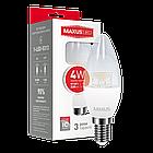 LED лампа Maxus C37 CL-C 4W теплый свет E14 (1-LED-5313), фото 2
