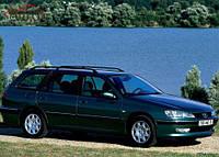Боковое стекло задней двери, форточка Peugeot 406 универсал '95-03 левое (SEKURIT)
