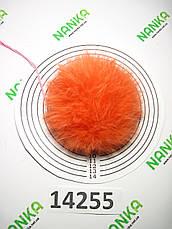 Меховой помпон Кролик, Св. Апельсин, 10 см, 14255, фото 3