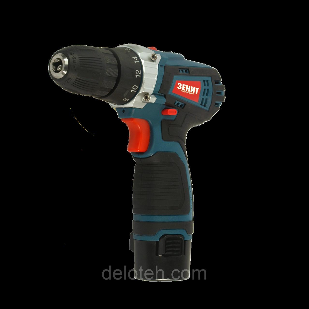Шуруповерт аккумуляторный Зенит 12 Р2 Li