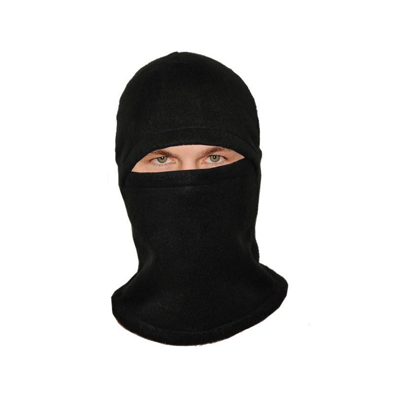 Балаклава зимняя  шапка-маска (флис, черная)