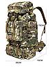 Туристический,тактический,походный рюкзак на 70литров черный, фото 2