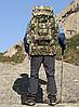 Туристический,тактический,походный рюкзак на 70литров черный, фото 5