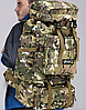 Туристический,тактический,походный рюкзак на 70литров черный, фото 6