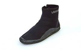 Ботинки для дайвинга 5 мм LEGEND (черные) L (43), фото 2