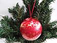"""Жестяная коробка для новогоднего подарка """"ШАР""""/ Жестяна коробка для новорічного подарунка, фото 4"""