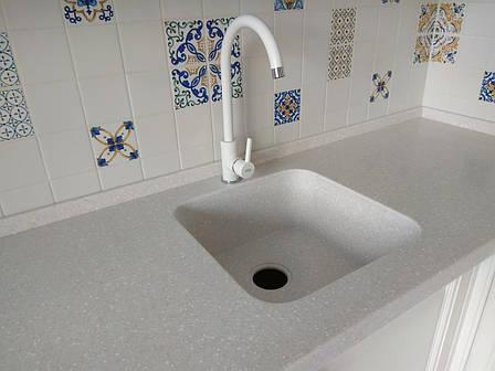 Стільниця з мийкою з штучного каменю Tristone F201, фото 2