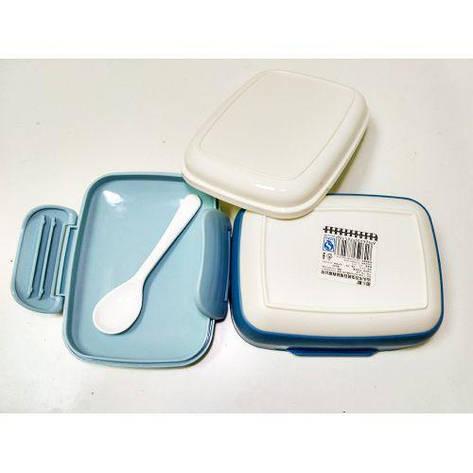 Ланч бокс CNV судочек пищевой контейнер 2 в 1 N01538 Blue (56161), фото 2