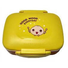 Ланч бокс CNV судочек пищевой контейнер 2 в 1 N01538 Yellow (56162)