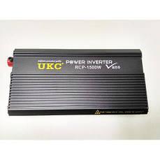 Профессиональный преобразователь инвертор UKC 12V-220V RCP 1500W (56202)