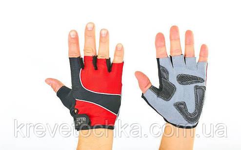 Перчатки атлетические с фиксатором запястья zelart, фото 2