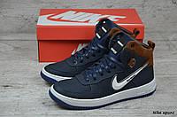 Мужские кожаные зимние кроссовки Nike  (Реплика) (Код: Nike крипс    ) ►Размеры [40,41,42,43,44,45]