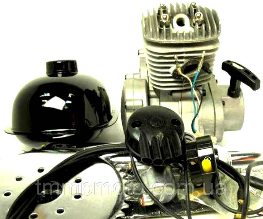 Веломотор F 80 (дырчик в сборе) на велосипед комплект без стартера