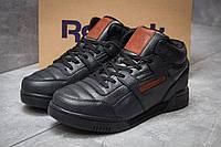 Зимние кроссовки на меху Reebok Classic, черные (30311),  [  41 42 43 44 45 46  ]