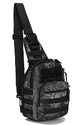 Тактическая,штурмовая, военная сумка рюкзак Черный питон