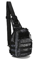 Тактична,штурмова, військова сумка рюкзак Чорний пітон
