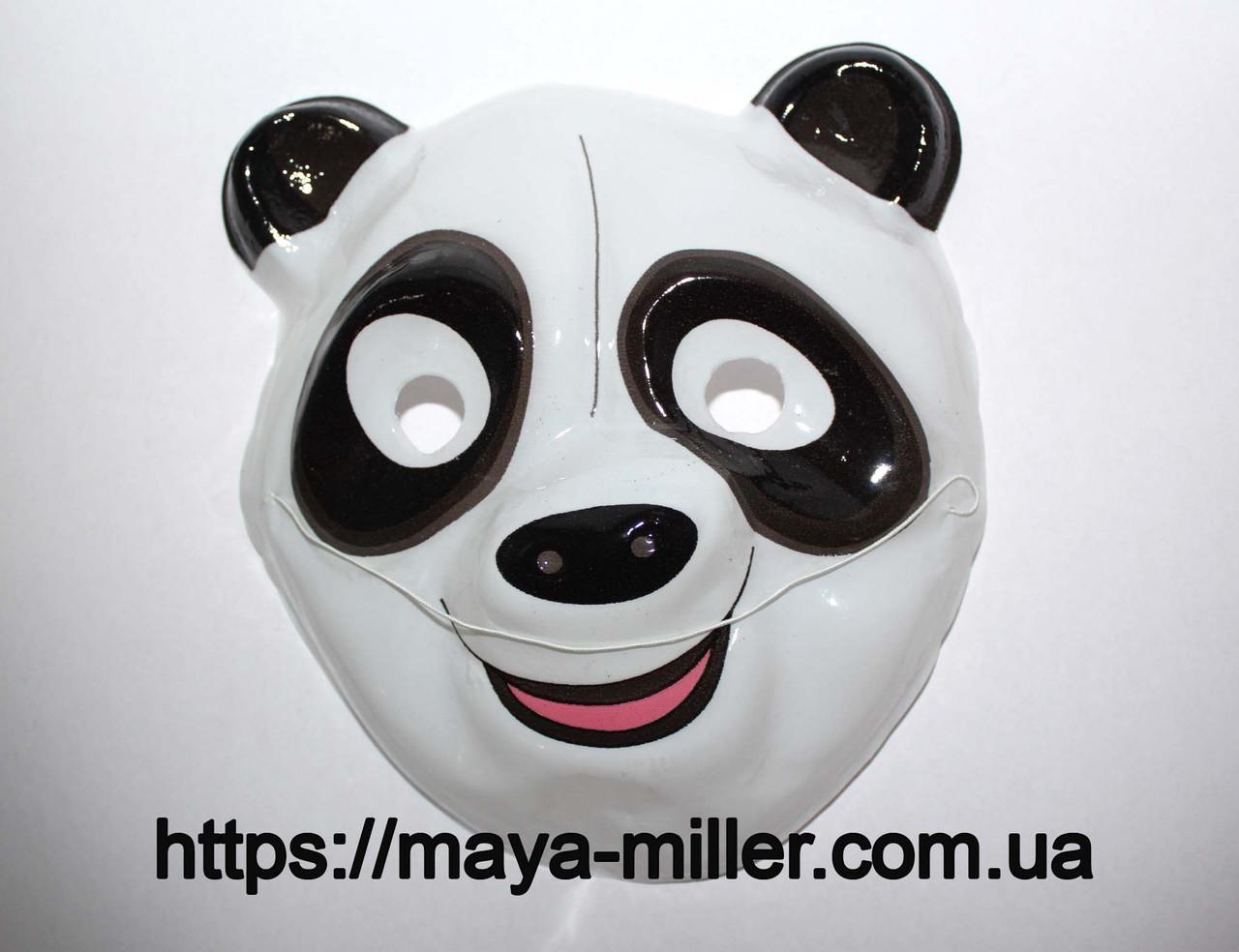Маска детская Панда  (тонкий пластик)      Майя Миллер