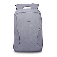 """Городской рюкзак для ноутбука 14"""" Тigernu (Тайгерну), светло-серый цвет"""