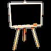 Большой мольберт из сосны для рисования мелом и водными маркерами