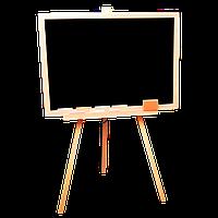 Великий мольберт з сосни для малювання крейдою та водними маркерами 70*45см